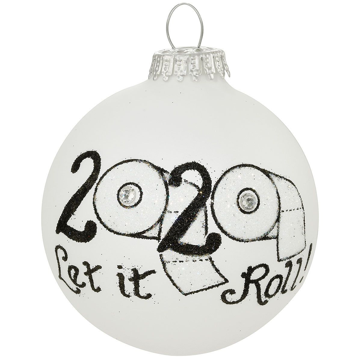 2020 Let It Roll Teresa Thibault Glass Ornament Glass Ornaments How To Make Ornaments Shiny Ornament