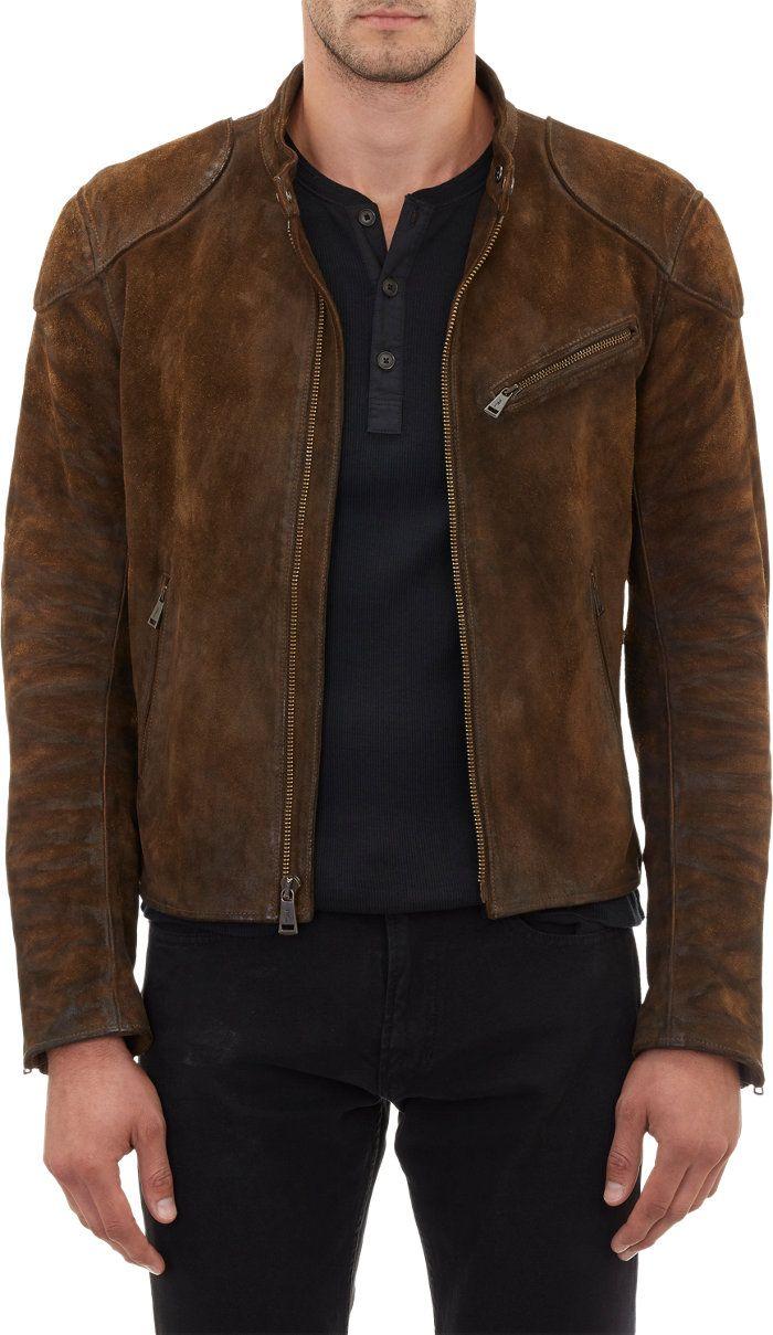 Ralph Lauren Black Label Burnished Suede Cafe Racer Jacket At Barneyswarehouse Com Leather Jacket Style Best Leather Jackets Stylish Mens Outfits [ 1209 x 700 Pixel ]
