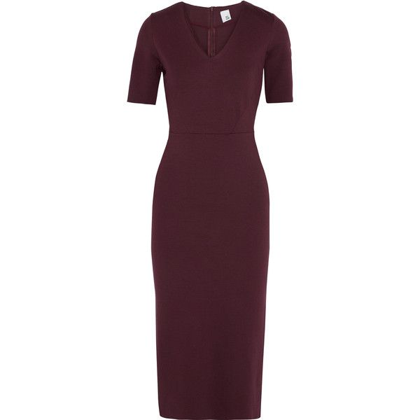 Iris & Ink Woman Ivanna Ponte Midi Dress Burgundy Size 6 IRIS & INK Discount New Styles Perfect Sale Online Best Store To Get Online Latest HrxWiUQEX