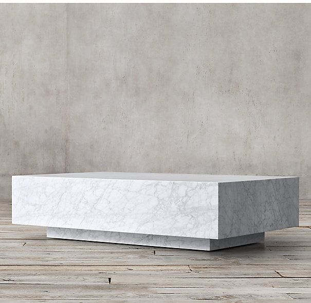 Marble Coffee Table Ornate: Marble Plinth Coffee Table - Living Room?