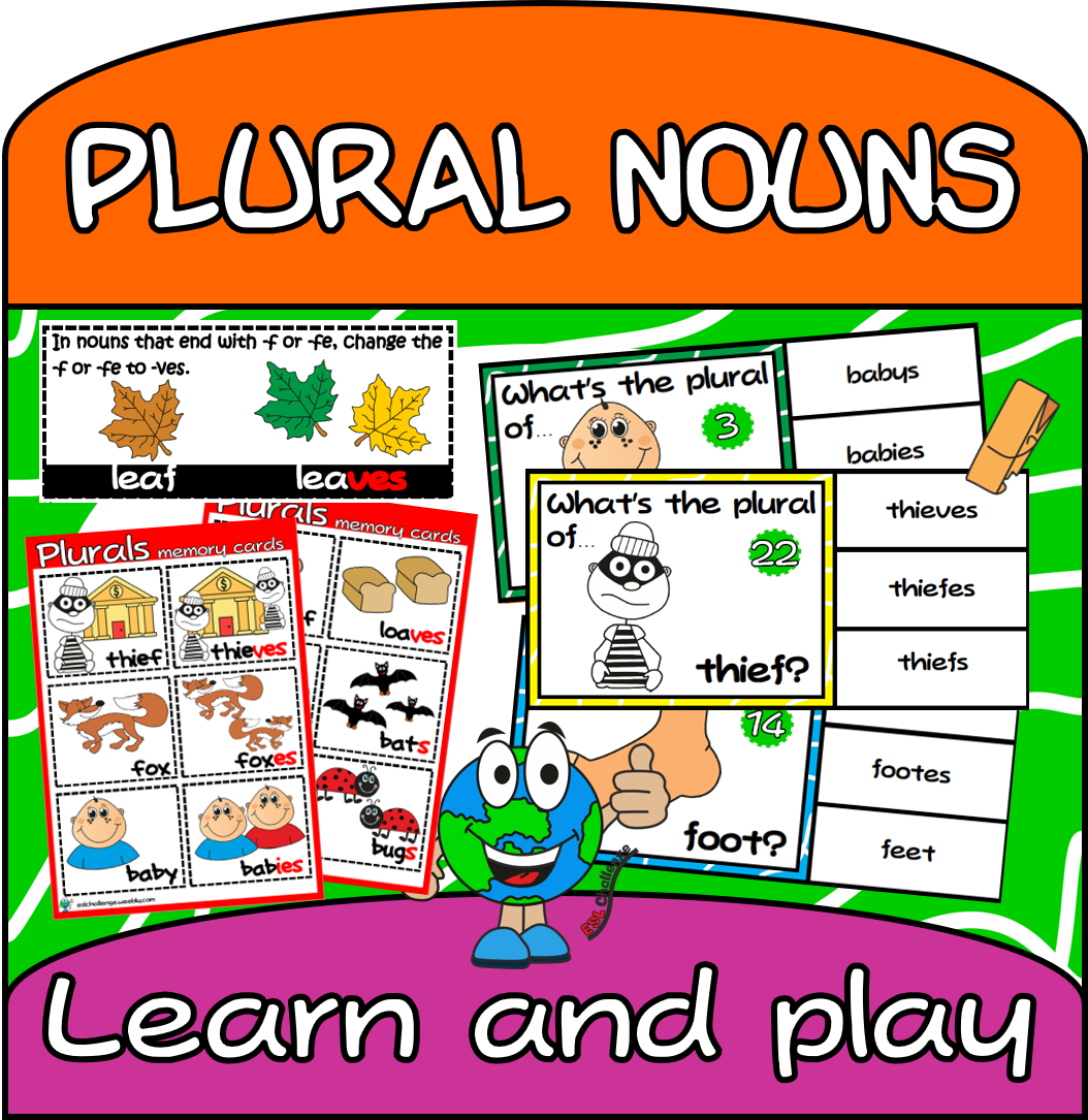 Plural Nouns Clip Cards Gt Plural Of Nouns Rules 1 Set