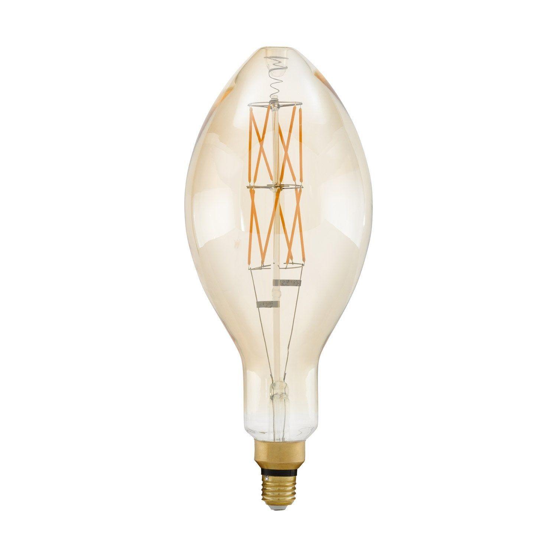 Ampoule Décorative Led Variable Ambré Allongé E27 806 Lm