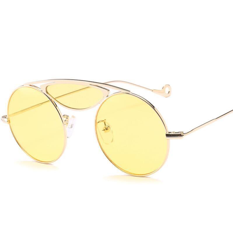 f0ea67f669 HBK Vintage Sunglasses Women Red Pink Yellow Candy Color Sunglass Woman  Retro Eyewear UV400 Goggles 2018