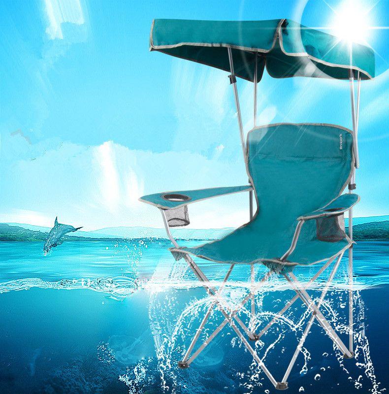 Silla de pesca portátil con sombrilla plegable silla para la pesca - sillas de playa