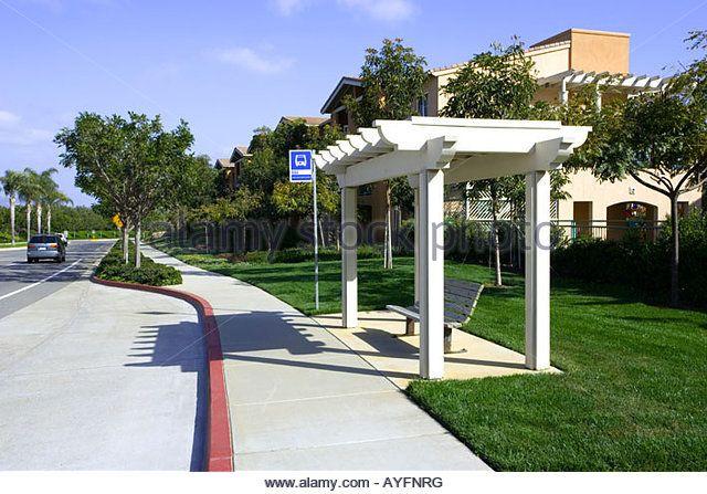 Bus Stop Carlsbad San Diego California Usa America West Coast