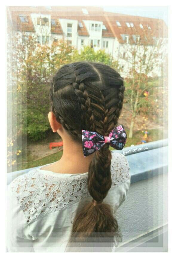 French and feathered braids