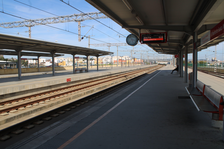 panorámica de la actual estación de El Puerto de Santa María