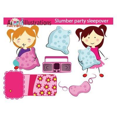 slumber girls sleepover party clipart graphics images set hybrid rh pinterest co uk sleepover clipart boy free clipart sleepover party