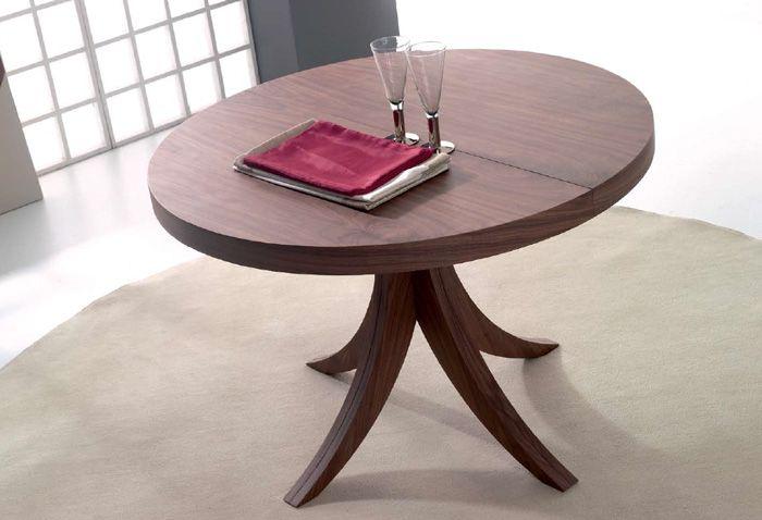 mesa de comedor de pie central modelo smara fija y extensible se presenta en