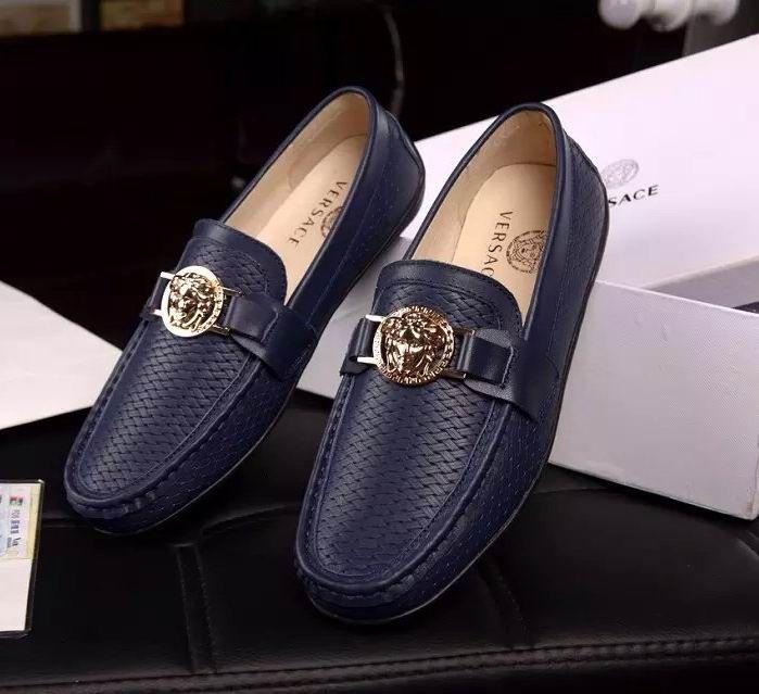 905c059d1299 Versace Driving Shoes Blue   Versace Shoes Outlet   Shoes, Versace ...