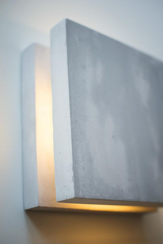 wall light concrete SC#157 handmade. plug in wall lamp. sconce ...