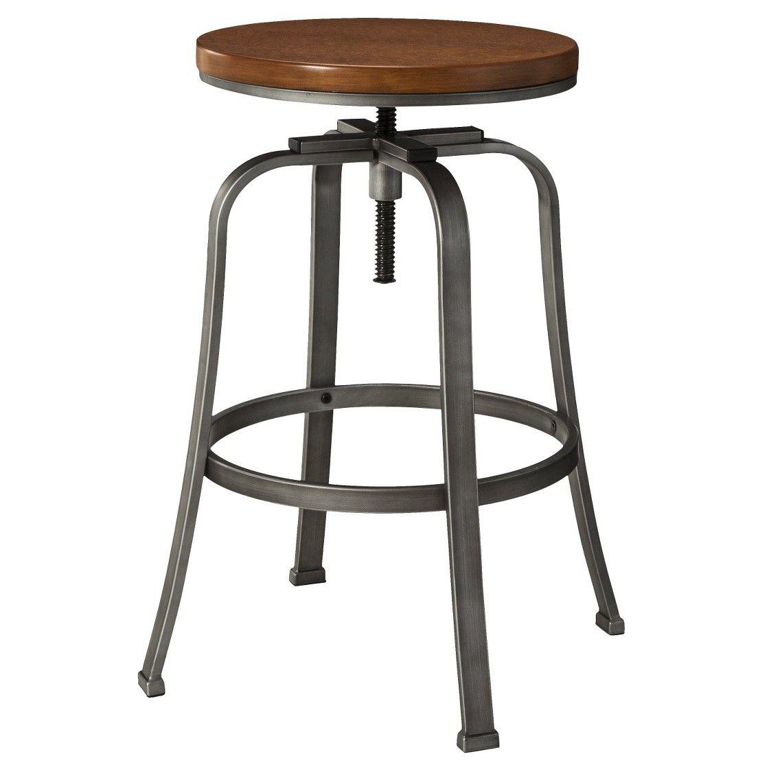 Dakota Adjustable Wood Seat Barstool Threshold Adjustable Bar Stools Adjustable Stool Bar Stools