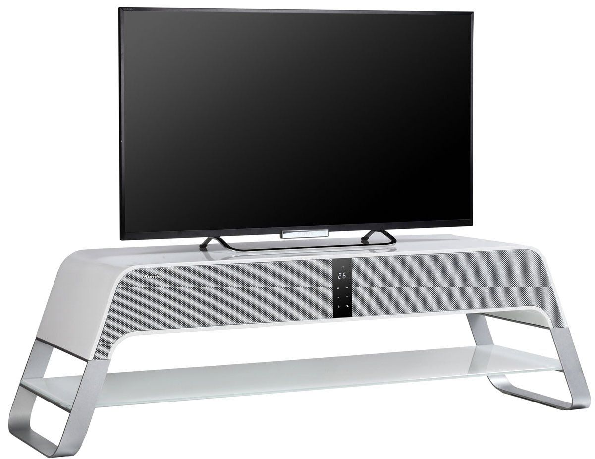 Somle SILENT White Home Theater Cinema TV Stand Integrated Sound Bar  £899.99 From The Plasma