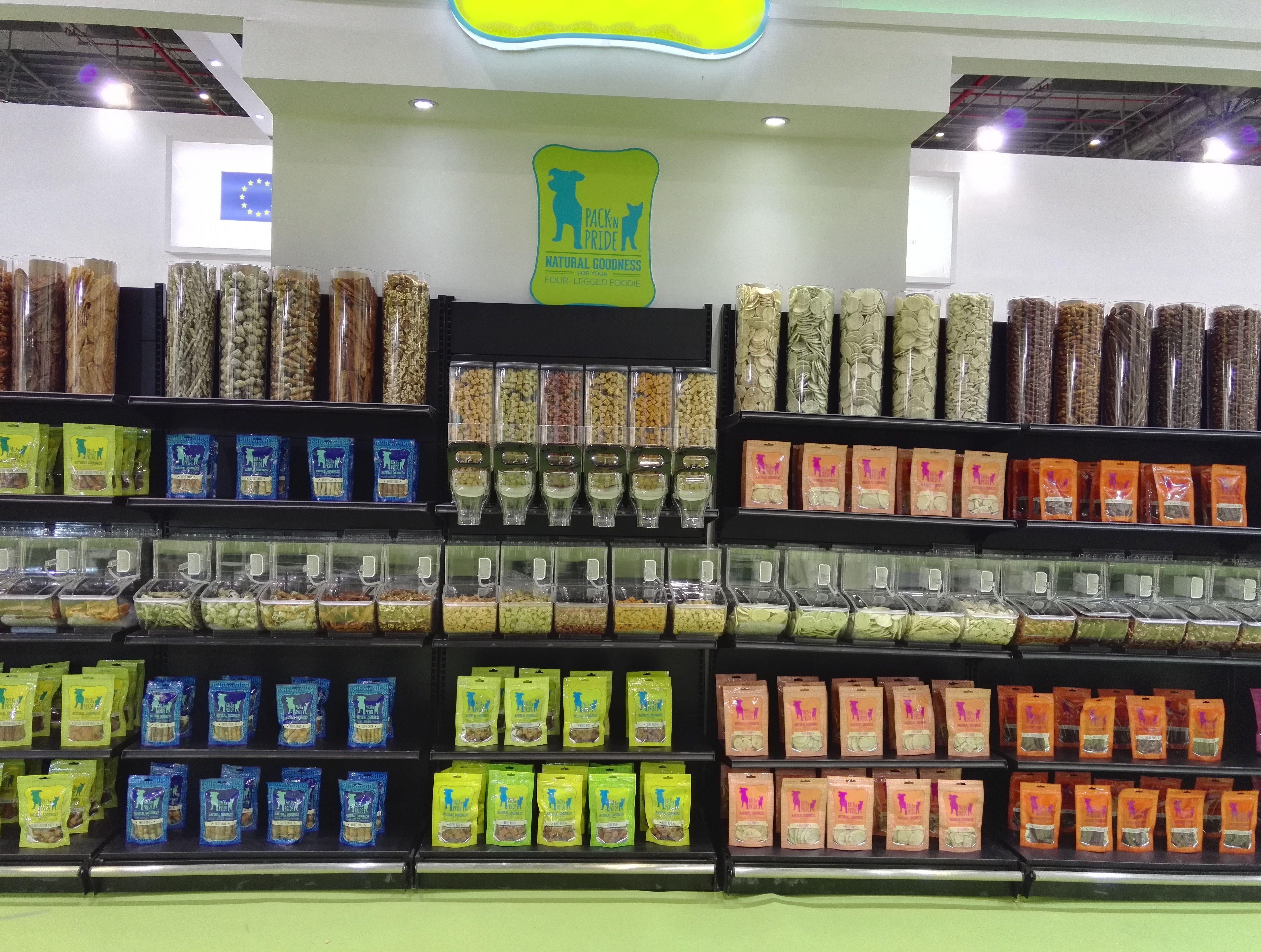 Pet Foods Store Pet Foods Dispenser And Scoop Bin