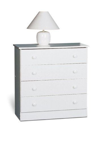 Prepac 4 Drawer Chest In White By Prepac 105 78 Includes An Instruction Booklet For Easy Assembly An Prepac Furniture White Dresser Bedroom Chest Of Drawers