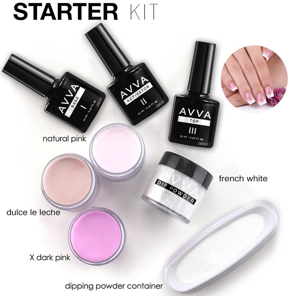 AVVA DIY Dip Powder Starter Kit in 2019 Dip powder