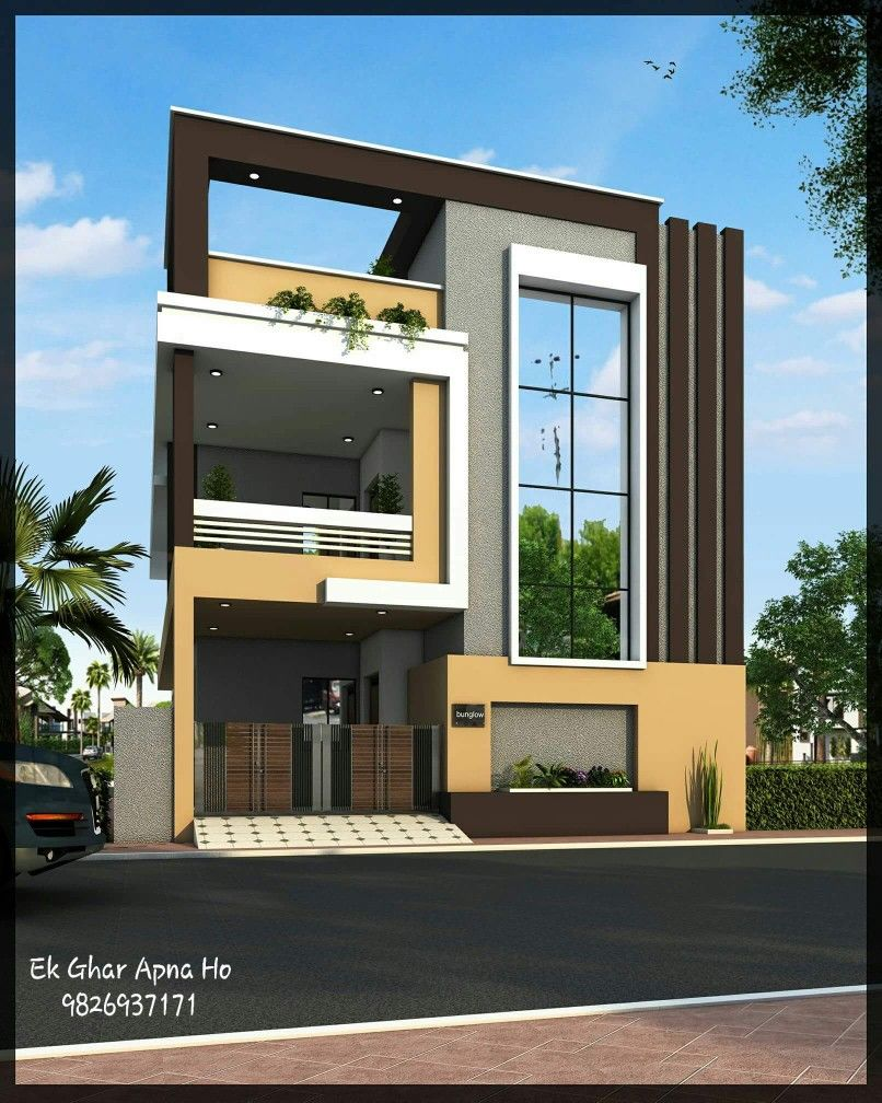 Exterior design ideas in 2019 - Best exterior design of house in india ...