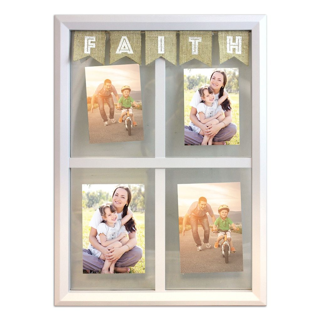 Harbortown Belle Maison 4-Opening Faith 5 x 7 Floating Collage Frame