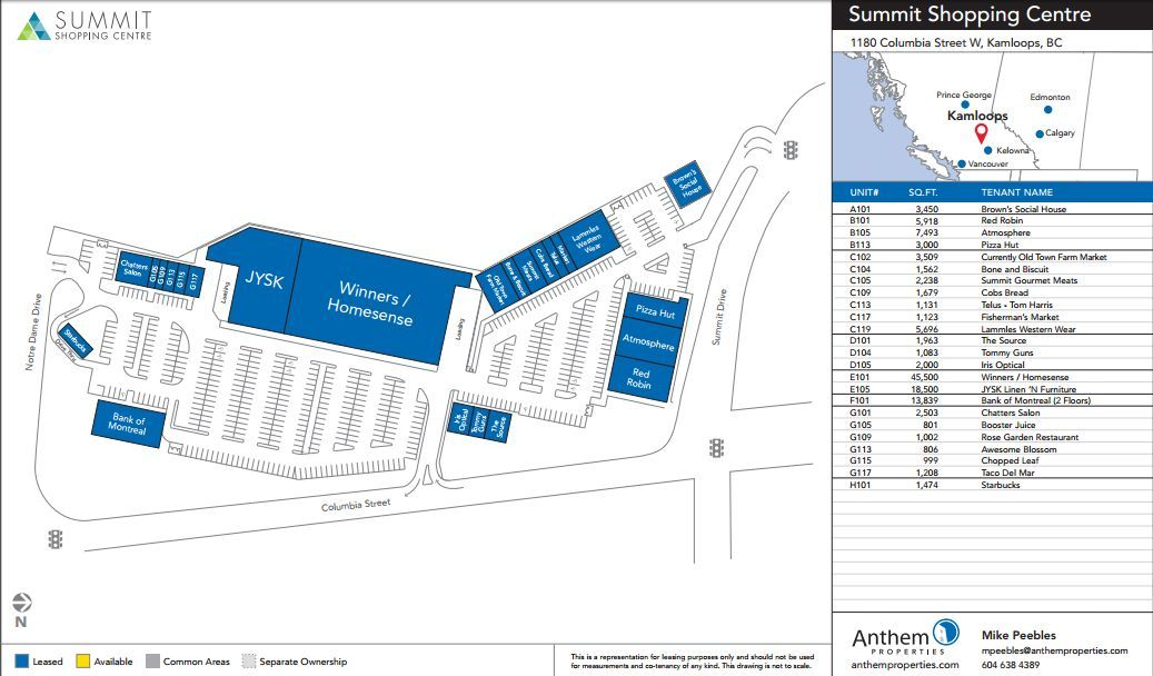 Summit Shopping Center shopping plan | Mall maps | Shopping ...