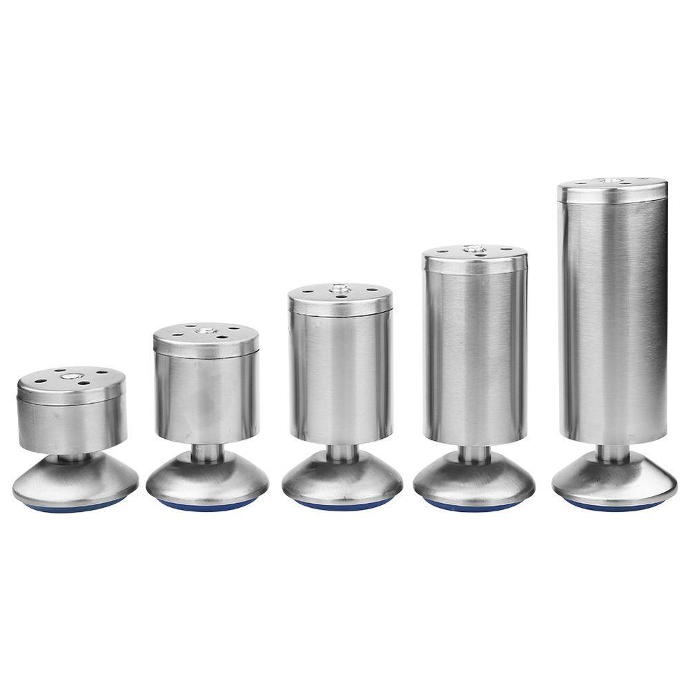 4x Adjustable Stainless Steel Cabinet Cupboard Table Sofa Bed Feet Furniture Leg Metal Furniture Legs Adjustable Furniture Legs Stainless Steel Cabinets