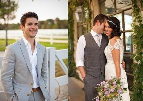 Trajes de novio para boda rustica