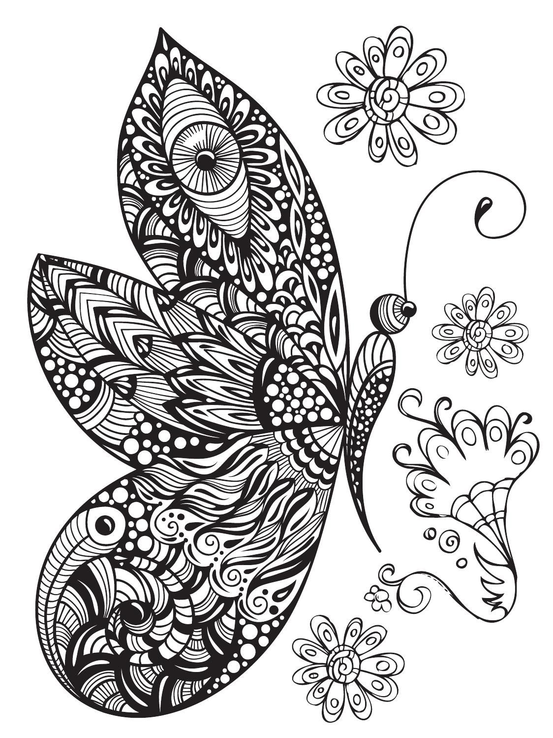 Color Mind Nº2 Butterfly Coloring Page Mandala Coloring Books Coloring Pictures [ 1498 x 1124 Pixel ]