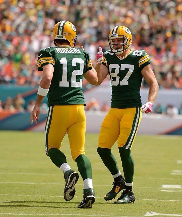 The Best Qb Receiver Team In Nfl Green Bay Packers Players Green Bay Packers Fans Green Bay Packers Vintage