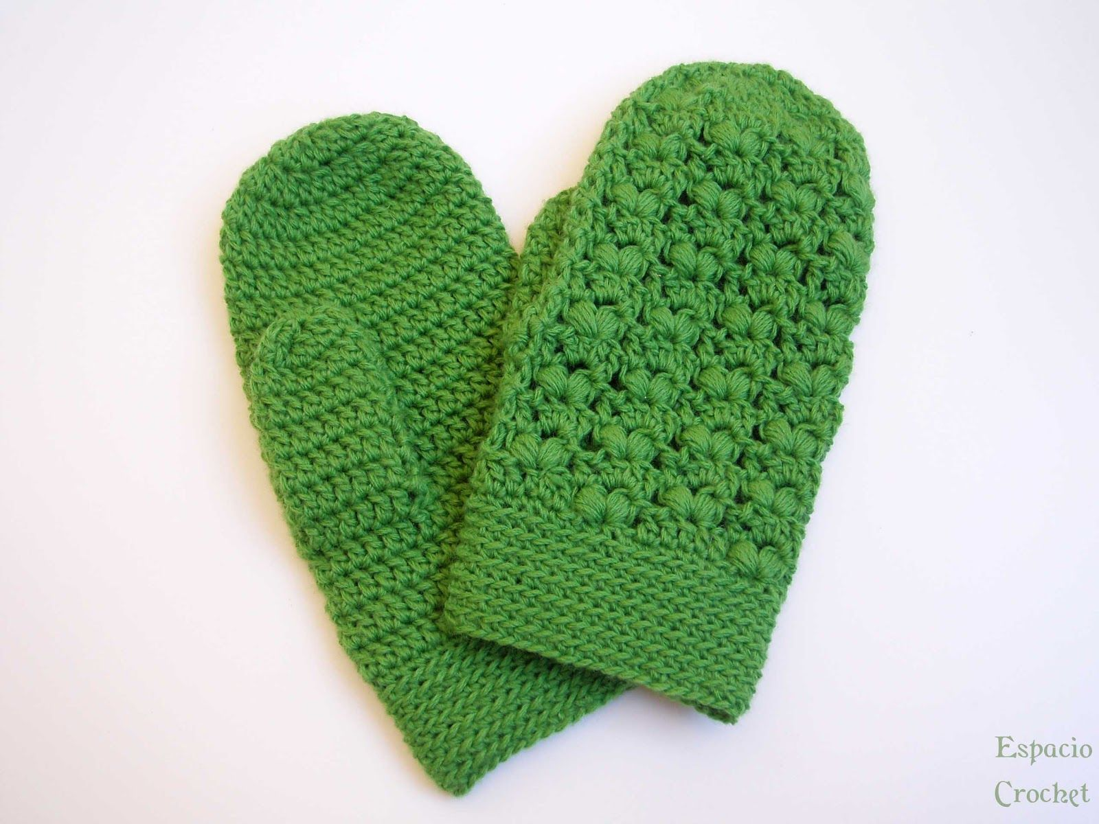 Espacio Crochet: Manoplas | Crochet mittens, gloves and sleeves ...