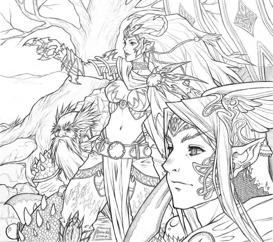 dragon\'s eye alliance by kate-niemczyk on deviantART | Line Art ...