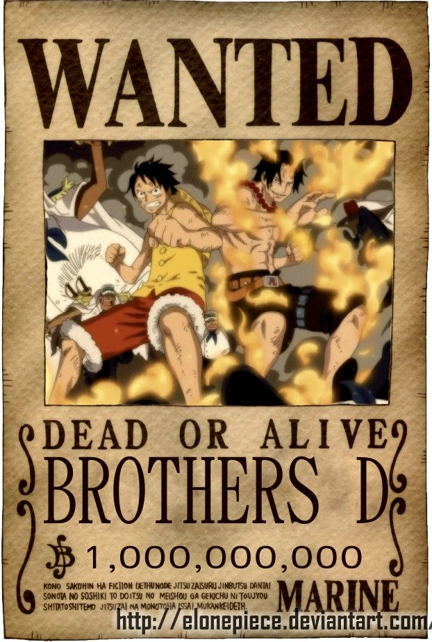 Wanted D Brothers (622×924) | One Piece | Pinterest | Anime