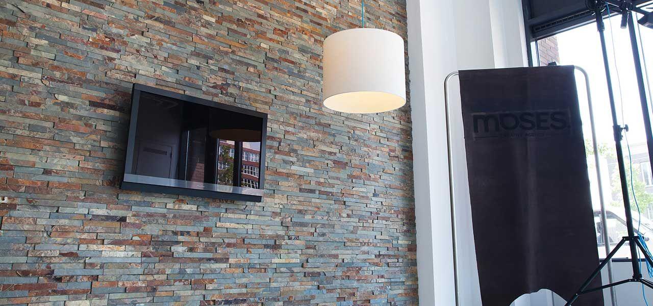 Barroco Natuursteenstrips, Steenstrips, Modern Brown, Wand in ...