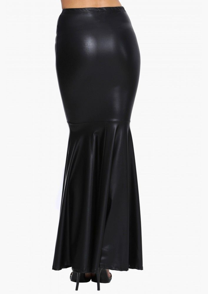 Lily Monster Faux Leather Skirt in Black | Necessary Clothing