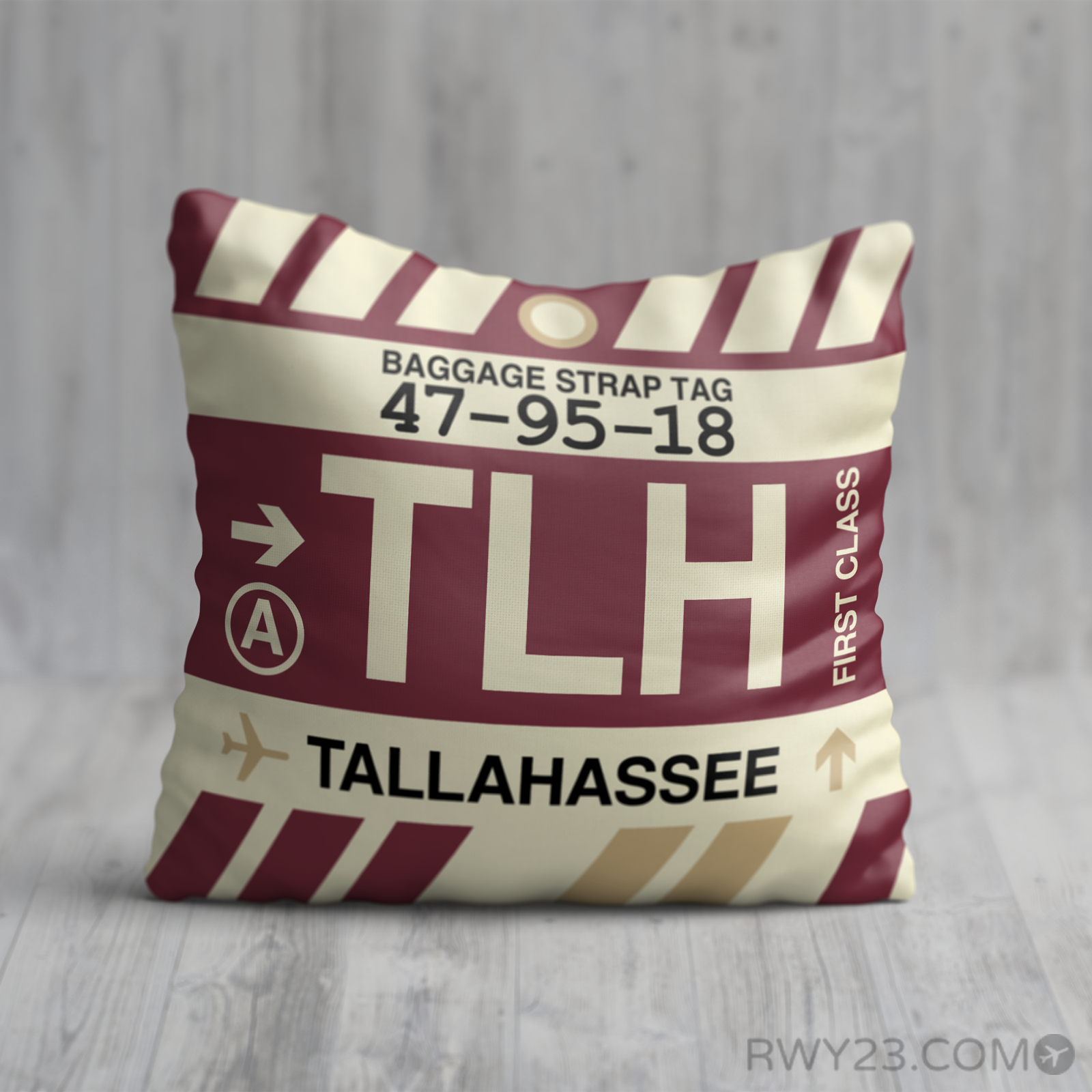 Tlh Tallahassee Throw Pillow Florida State University Fsu