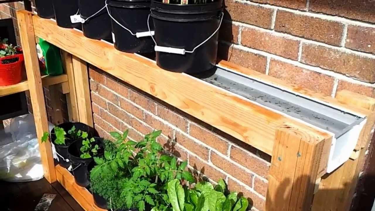 Inspirational Self Watering Apartment Balcony Vegetable Garden