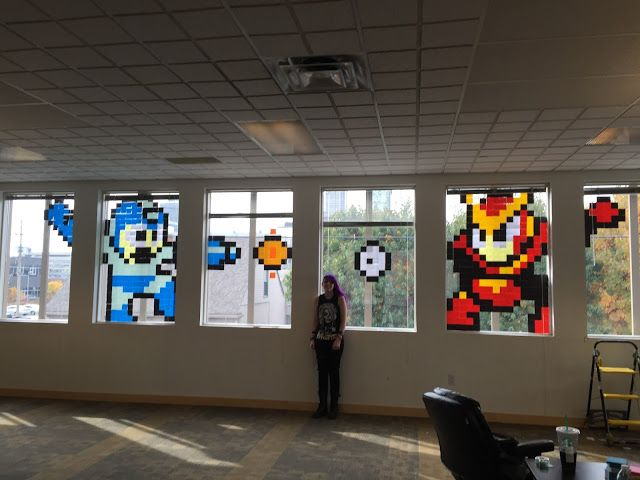 Library Fanatic: Post-It Note Art at Evanced
