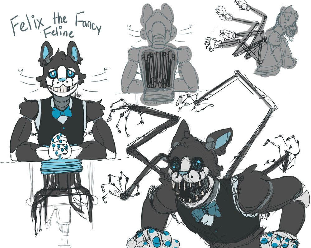 FNAF OC Felix the Fancy Feline by DoctorLinnec Fnaf oc