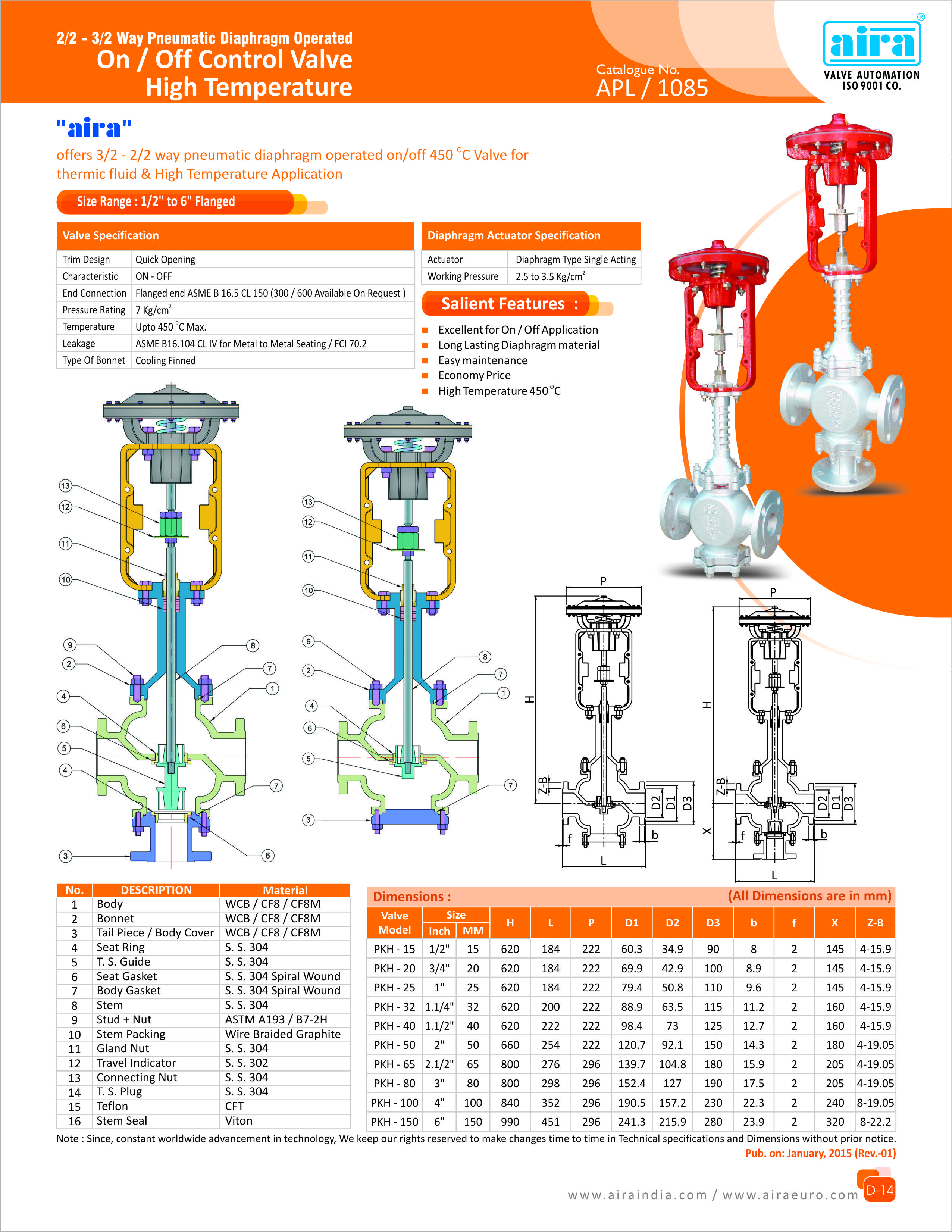 2  2 2 Way Pneumatic Diaphragm Operated On  Off Control
