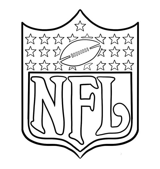 Coat Of Arms Of Nfl Football Coloring Pages Football Parties