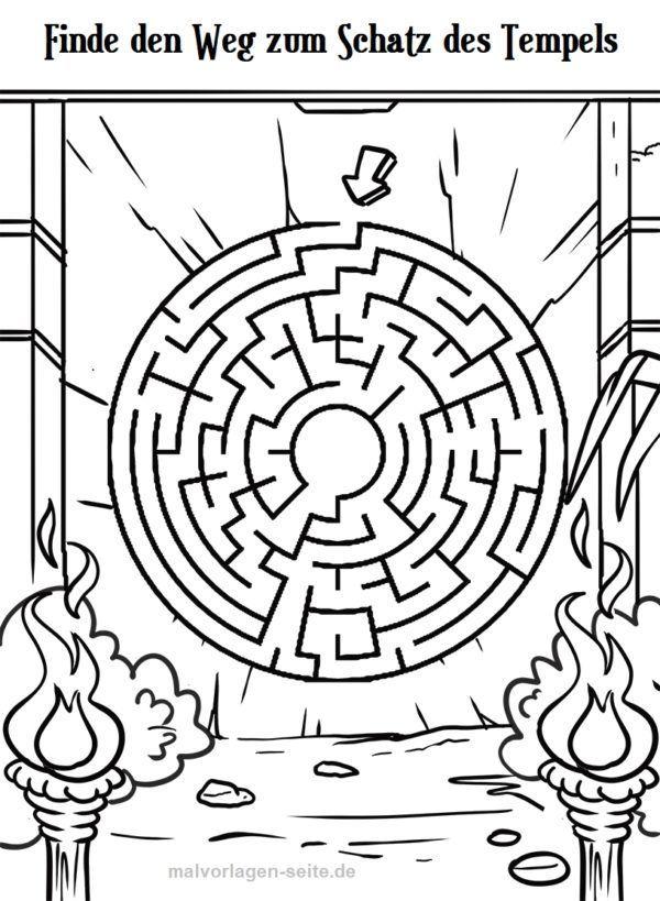 irrgarten labyrinth für kinder  labyrinth irrgarten