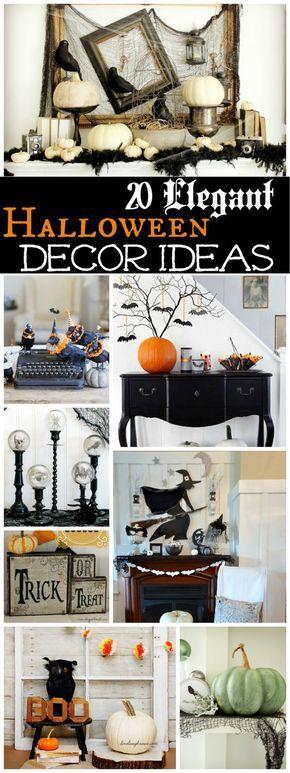 20 Spooktacularly Elegant DIY Halloween Decor Ideas Halloween