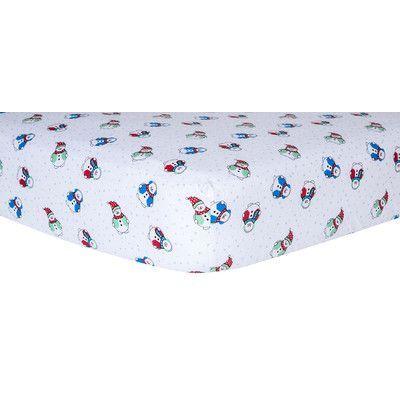 Trend Lab Snowman Print Fitted Crib Sheet Trend Lab