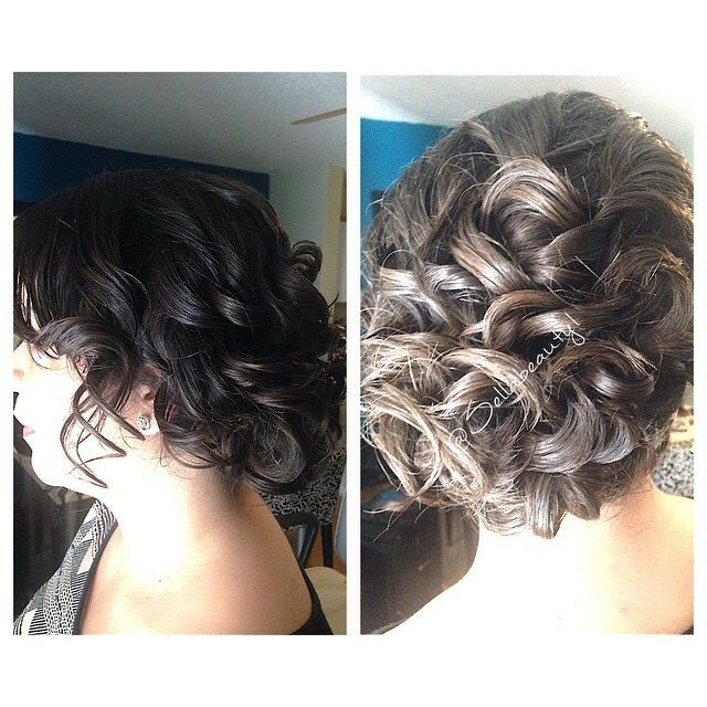 Special occasion updo hair by Prisila Torres