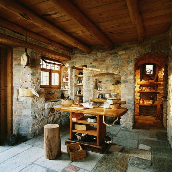 """Traditional Stone House For A Way Of Life """"Simple and Necessary ..."""