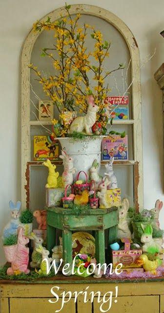 Spring Entry Display Chippyshabby Blogspot Com Easter