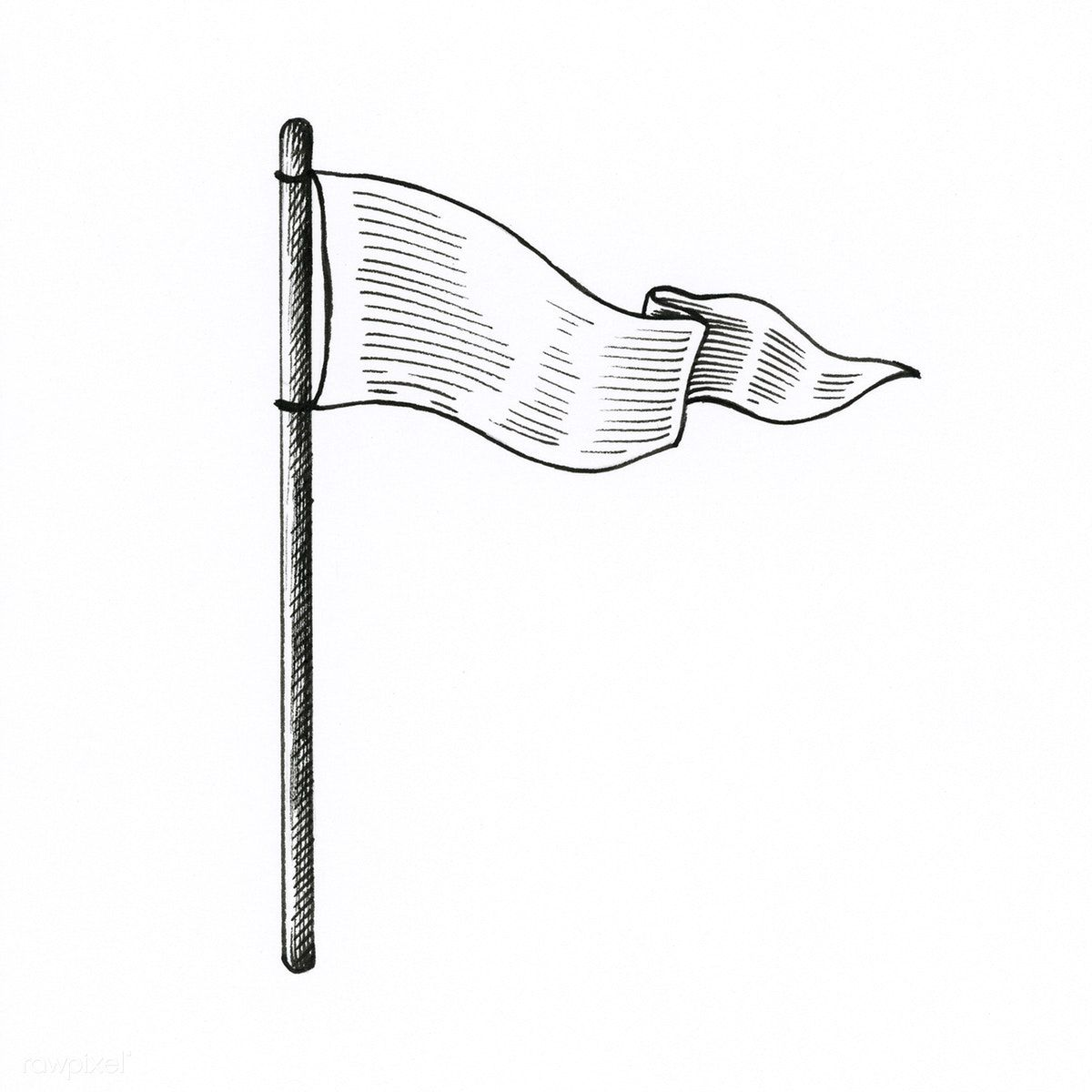 Hand Drawn White Flag Isolated On Background Free Image By Rawpixel Com How To Draw Hands Flag Drawing White Flag