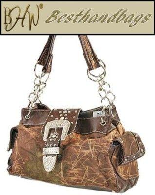Bhw Rhinestone Buckle Purse Western Mossy Camo Handbag On Ebay