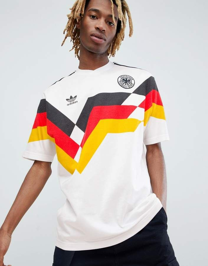 064cc77e08c adidas Originals Retro Germany Soccer Jersey In White CE2343 in 2019 ...