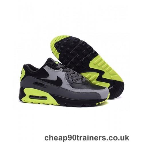 Spielraum Herren Nike Air Max 90 Essential Trainers Schuhe Schwarz Grau Fluoreszierend Grun 872634 777 Billig Nike Air Max 9 In 2020 Nike Air Max Nike Air Air Max 90