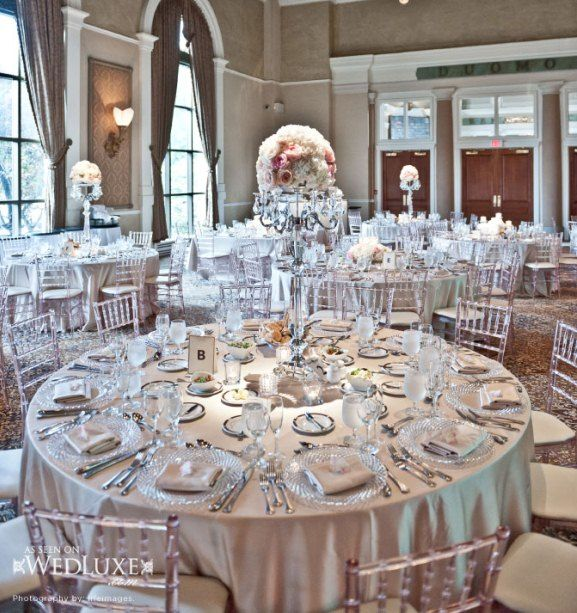 White And Silver Theme Reception Decorations2 Silver Wedding