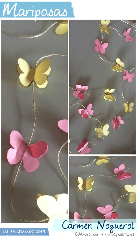 Manualidades papel mariposas carmen noguerol fiestas - Papel decorativo manualidades ...